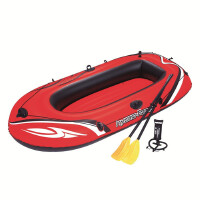 【当当自营】Bestway三人加厚充气船皮筏艇橡皮艇皮划艇气垫船(附赠船桨、充气泵)61102