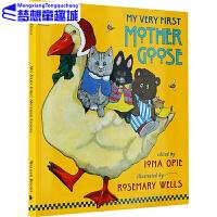 包邮 英文原版 My Very First Mother Goose 鹅妈妈童谣的故事 绘本启蒙童谣书 廖彩杏书单 平