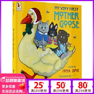鹅妈妈童谣英文原版绘本 My Very First Mother Goose 廖彩杏书单 0 3 6岁国外经典儿童书 鹅妈妈童谣的故事 平装