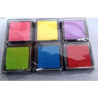 可批发|韩国文具6色印泥|印台|教师印章印泥|卡通印油