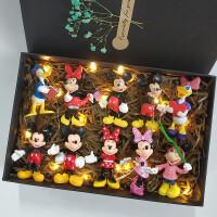 创意米老鼠公仔手办米妮米奇盲盒生日礼物玩具摆件模型全套礼盒装
