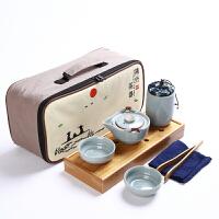 【优选】陶瓷快客杯一壶一两杯便携收纳简约旅行车载家用办公功夫茶具