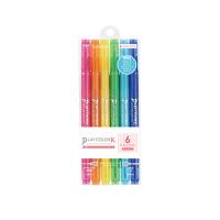 TOMBOW蜻蜓 GCF-611A双头水性水彩笔涂色笔添色笔填色画画笔6色套装