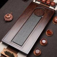 【新品】木实木茶盘 整块原木茶台 家用小茶盘简约茶具乌金石排水茶海