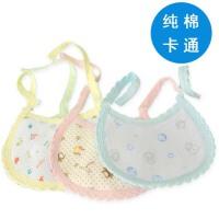 宝宝围嘴婴儿口水巾小孩纯棉小围嘴0至1岁饭兜四季可用热卖防水