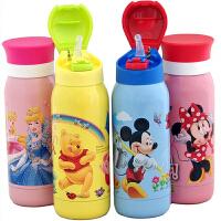 包邮!迪士尼Disney 双盖两用保温杯 吸管保温水杯 350ML直饮式运动型保温壶