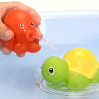 动物喷水发声捏捏叫婴儿浴室戏水网捞鲨鱼套装女宝宝儿童洗澡玩具