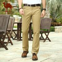 CAMEL 骆驼男装 夏装商务休闲纯色长裤 男士直筒长裤子