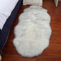 北欧仿羊毛地毯卧室床边毯客厅茶几地毯装饰毯子长毛毛绒地毯白色定制
