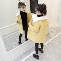 2019新款儿童洋气韩版中大童加厚大衣女童冬装外套