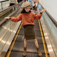 女童秋冬装针织套装儿童洋气时髦大童女孩两件套