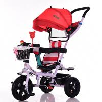儿童三轮车宝宝脚踏车婴儿手推车旋转座椅1-3-5小孩自行车YW02童