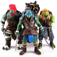 大号26CM 忍者神龟 儿童玩具 可动人偶 公仔模型 [4款一套] 26CM正版散装忍者龟