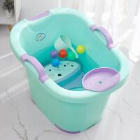 儿童泡澡桶宝宝婴幼儿洗澡沐浴桶小孩子可坐家用大号浴盆