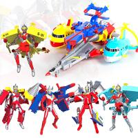 奥特曼咸蛋超人玩具儿童变形机器人泰罗赛文艾斯佐菲男孩套装