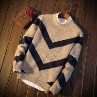 男士新款秋冬季毛衣休闲百搭圆领套头针织衫青少年修身韩版毛衫潮