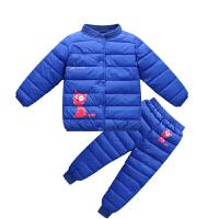 童装儿童羽绒男童女童加厚冬装棉衣小童内胆两件套装宝宝棉袄