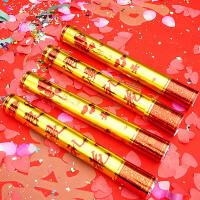 结婚庆用品创意礼花彩带庆典派对礼炮喜字花瓣礼宾花礼花筒 玫瑰花瓣款 60cm