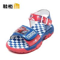 Daphne/达芙妮鞋柜童鞋 男童休闲凉鞋搭扣露趾儿童凉鞋