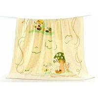 宝宝浴巾 纱布宝宝超柔吸水浴巾一面纱布一面竹纤维毛圈新生儿童毛巾被婴儿盖毯wk-78