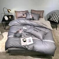 法兰绒四件套冬季网绒水晶绒床单双面绒被套床上用品床笠款定制 床笠款 1.8m(6英尺)床