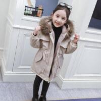 女童棉衣冬装2018新款洋气外套儿童中长款棉袄宝宝加绒加厚棉服潮
