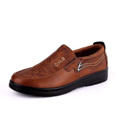 春秋商务休闲男鞋黑色工作鞋老北京布鞋男款单鞋透气软底大码低帮