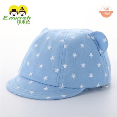 秋季薄款0-3-9月婴儿潮帽婴幼儿鸭舌帽 软帽沿宝宝棒球帽