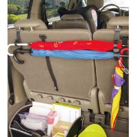 汽车后备箱椅背收纳夹车用雨伞挂钩置物多功能通用固定支架