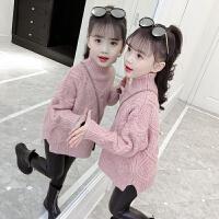 女童高领毛衣秋冬儿童洋气套头线衣小女孩针织衫冬季童装