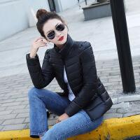 2018新款冬季小款棉衣女短款修身轻薄小棉袄显瘦百搭外套立领