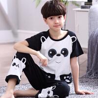 男孩中大童睡衣家居服套装夏季儿童男童短袖睡衣