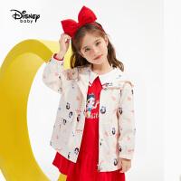 【1件2.8折价:106.1元】迪士尼女童时尚梭织风衣外套2021春装儿童宝宝洋气童装上衣潮