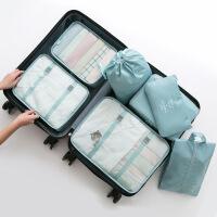 衣服收纳袋旅行收纳袋套装行李箱衣服收纳整理袋旅游鞋子衣物内衣收纳包