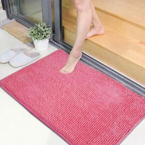 享家素锦年华短毛超纤雪尼尔进门地垫50*80�M门垫脚垫卫浴防滑吸水地毯地垫 入户垫