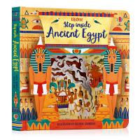 Usborne出品 走进古埃及 Step Inside Ancient Egypt 英文原版绘本 古埃及法老神话故事 早