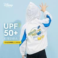 【2件2.3折价:64.1元】迪士尼童装男童梭织防晒服2021夏季新款洋气儿童男孩时髦外套