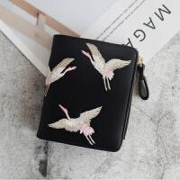 钱包女短款韩版潮拉链零钱包卡包一体多功能折叠小手拿小包