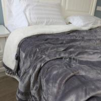 出口法兰绒羊羔绒珊瑚绒毯子冬季加厚毛毯被子双层绒毯春秋毯定制