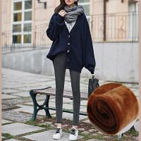 加绒牛仔裤女黑色冬季高腰春秋2018新款韩版显瘦灰色加厚小脚九分