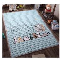纯棉儿童地垫宝宝爬爬垫客厅爬行垫加厚婴儿游戏地毯机洗家用卧室 200cm*150cm