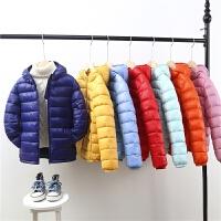 儿童羽绒轻薄款男童棉袄中大童棉衣女童冬装宝宝外套