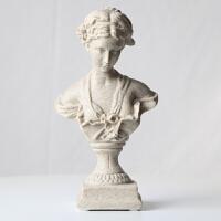 创意欧美式维纳斯少女雕像摆件家居装饰品艺术人物复古美术石膏像办公室装饰摆件