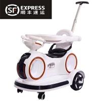 婴儿童电动车四轮汽车带遥控宝宝1-3岁手推车可坐充电摩托玩具车摇摆车 白色/双驱/遥控/自驾/摇摆/推把 餐盘+USB