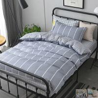 学生宿舍纯棉全棉床上三件套单人床单被套寝室上下铺1.2米m床品夏