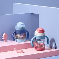 babycare儿童水杯防漏防呛方形吸嘴杯 重力球手柄设计