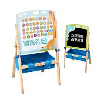木制双面磁性家用画架宝宝写字板白板黑板可升降画板儿童支架式