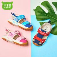 2019夏季新款男女童凉鞋小童孩包头软底鞋儿童凉鞋