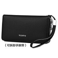 商务男士钱包长款拉链容量手拿包男式卡包多功能青年皮夹子