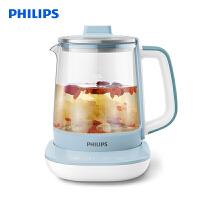 �w利浦(PHILIPS)�B生�� ��崴��� 多功能泡花茶�� 玻璃加厚��水�� 1.7L 防干�� 一�C多用 HD9361/10